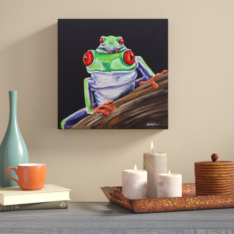World Menagerie 'Tree Frog Baby Love' Acrylic Painting Print on