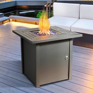 Delaine Steel Propane Gas Fire Pit Table By Sol 72 Outdoor