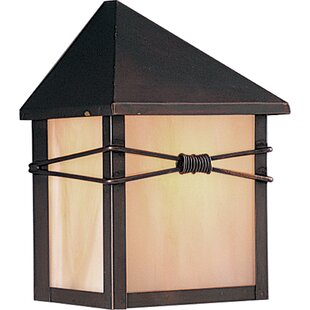 Read Reviews Heacock 1-Light Outdoor Flush Mount By Loon Peak