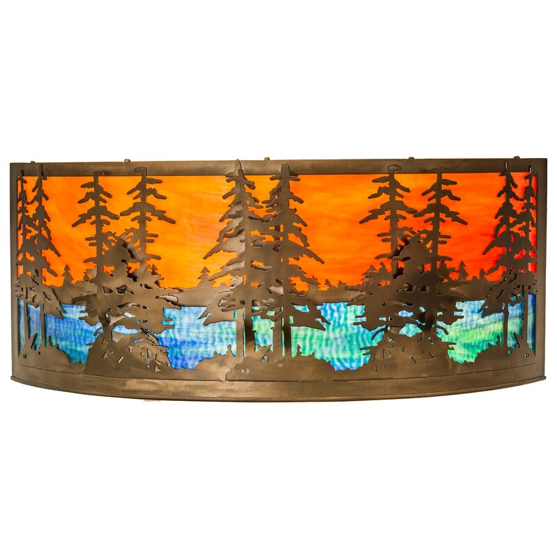 Meyda Tiffany Tall Pines 1 Light Flush Mount Wayfair
