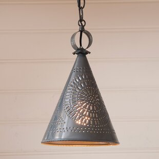 Wellbrock Witch's Hat 1-Light Cone Pendant by Gracie Oaks