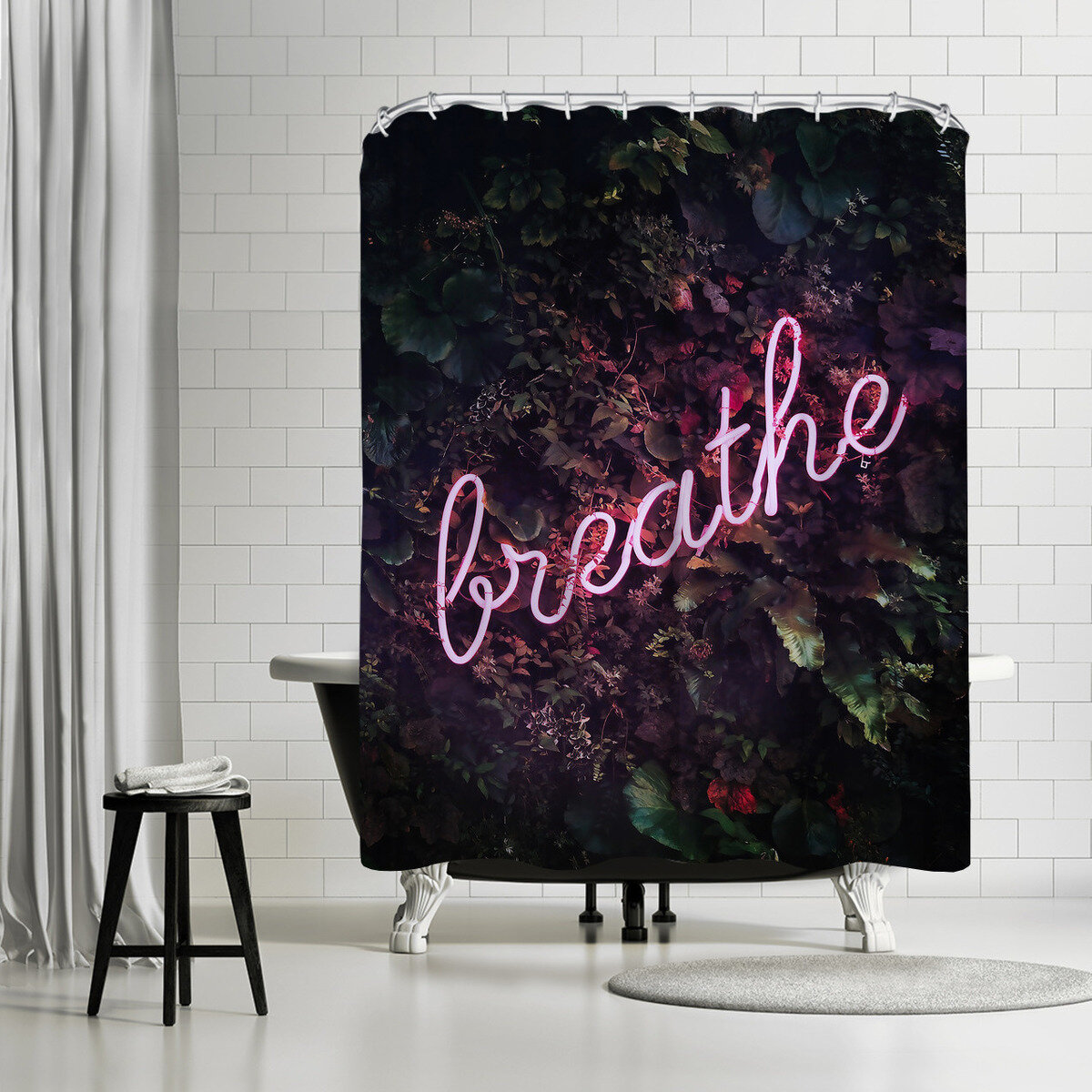 East Urban Home Sisi And Seb Breathe Single Shower Curtain Wayfair