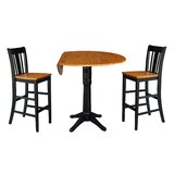 Boylan 3 Piece Adjustable Pub Table Set by Darby Home Co