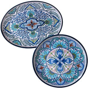 Bezu 2 Piece Heavy Weight Melamine Platter Set