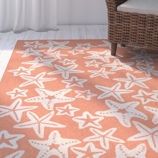 Claycomb Hand-Tufted Coral Indoor/Outdoor Area Rug byHighland Dunes
