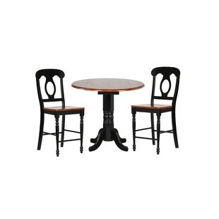 Lockwood 3 Piece Adjustable Pub Table Set