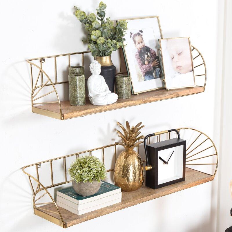 Trista Wall Shelf (Set of 2)