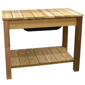 Phat Tommy Patio And Garden Cedar Planter And Potting Bench