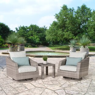 Greenfield Deluxe 3 Piece Sunbrella Conversation Set with Cushions