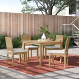 Anthony 5 Piece Teak Dining Set with Cushions