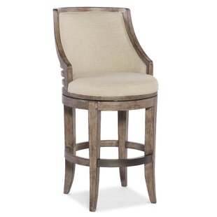 Lainey Transitional Swivel Bar Stool