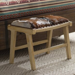 Wapiti Ridge Leather Ottoman By Loon Peak