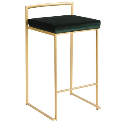 Fantastic Wade Logan Gary Bar Counter Stool Color Gold Seat Height Gamerscity Chair Design For Home Gamerscityorg