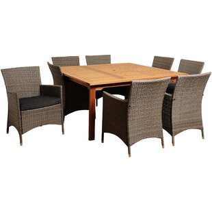 Brighton Eucalyptus 9 Piece Dining Table with Cushions