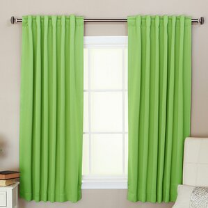 Apple Solid Blackout Grommet Thermal Curtain Panels (Set Of 2)