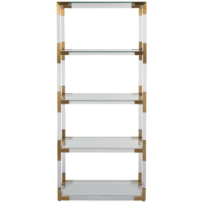 Modern Amp Contemporary Clear Lucite Acrylic Bookcase