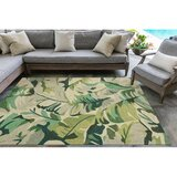 Rachael Hand-Tufted Green Indoor/Outdoor Area Rug by Beachcrest Home