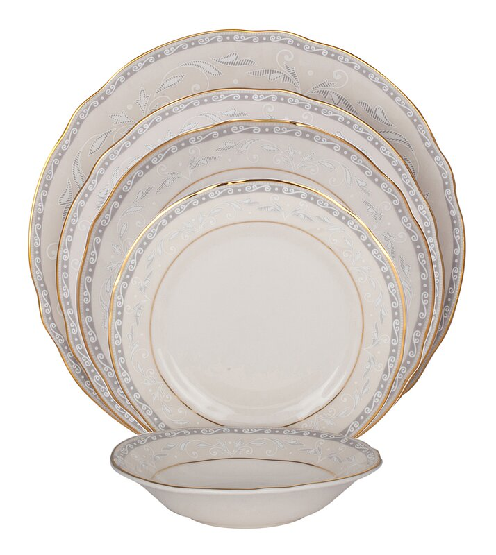 Spring Valley Ivory China 20 Piece Dinnerware Set Service for 4  sc 1 st  Wayfair : spring dinnerware sets - pezcame.com