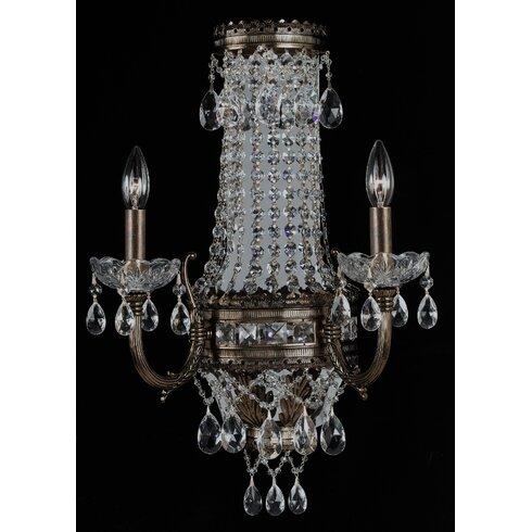 classic lighting contessa 2 light candle wall light wayfair
