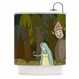 'Enchanted Forest' Single Shower Curtain