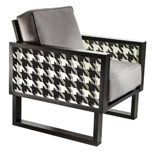 Brayden Studio Winder Houndstooth Lounge Chair