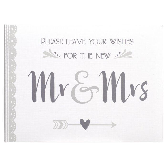Mr Mrs Wedding Guest Book