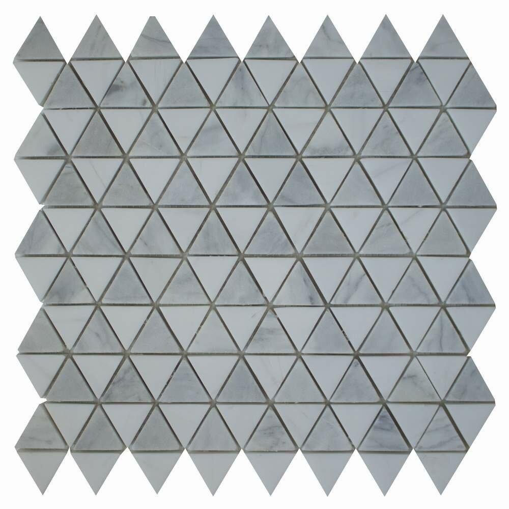 Ephesus Stones Diamantes 0 38 X Marble Mosaic Tile In Carrara Bianco Dolomite Wayfair