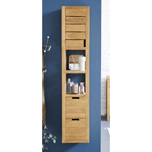 Review Serena 30 X 150cm Wall Mounted Tall Bathroom Cabinet