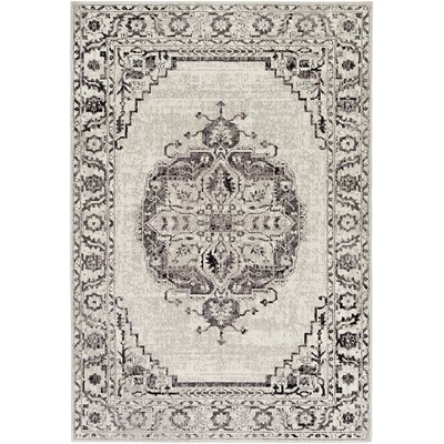 Mistana Tierney Gray/Black Area Rug Rug Size: Rectangle 8'10 x 12'9