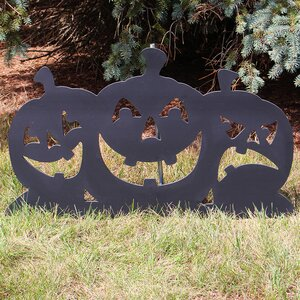 Black Pumpkin Silhouette Sign