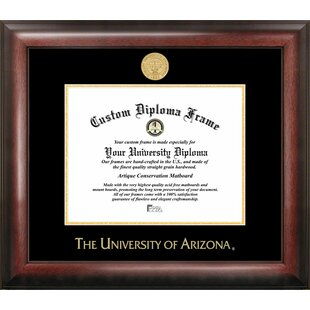 NCAA Arizona Wildcats Gold Embossed Diploma Frame By Campus Images