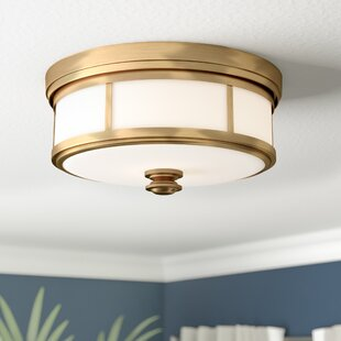 Beachcrest Home Bowers 2-Light Flush Mount