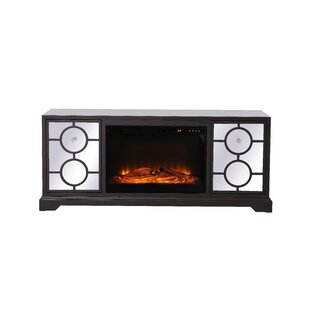 Mcneal Mirrored TV Stand for TVs up to 22 with Fireplace