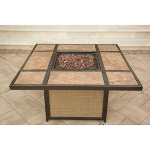Swatzell Aluminum Propane Fire Pit Table by Brayden Studio #1