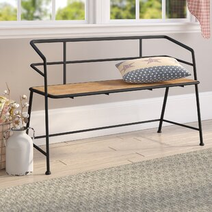Idell Metal and Wood Bench