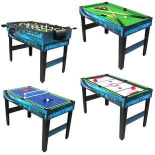 Crawfordsville 10-in-1 Multi-Game Table By Freeport Park
