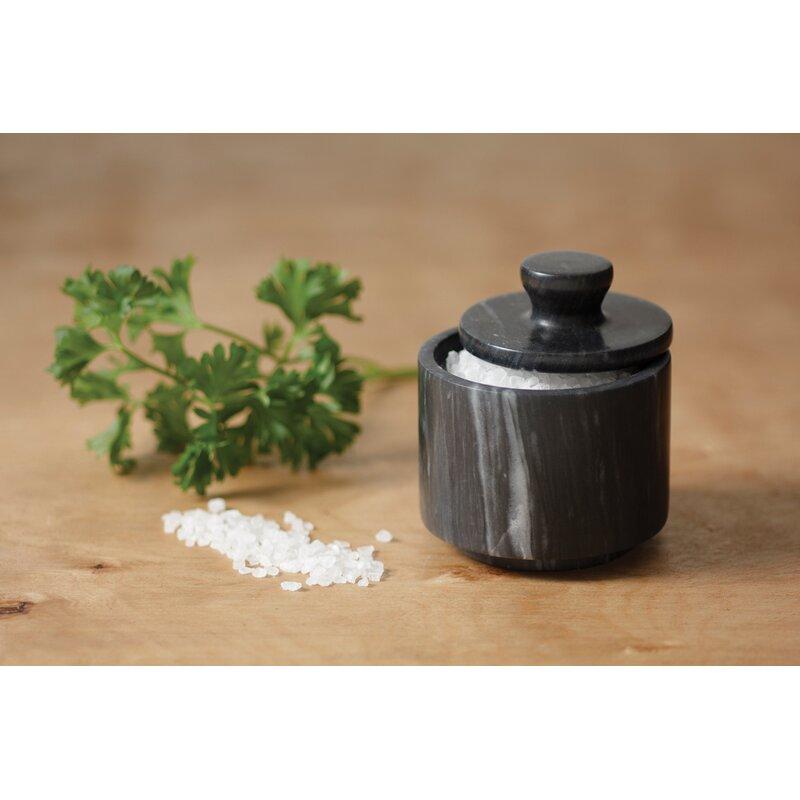 Fox Run Ironwood Gourmet Acacia Wood Kosher Sea Salt Cellar Box Kitchen Table
