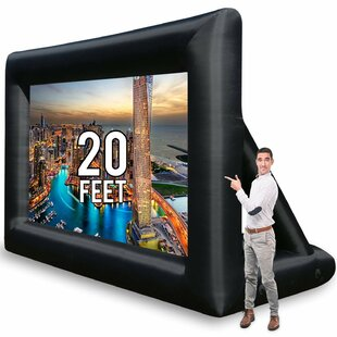 Jumbo White 20' Diagonal Portable Projection Screen