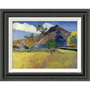 Tahitian Landscape With A Mountain By Paul Gauguin Framed Painting Print