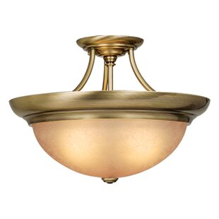 Brungardt Semi Flush Mount by Fleur De Lis Living