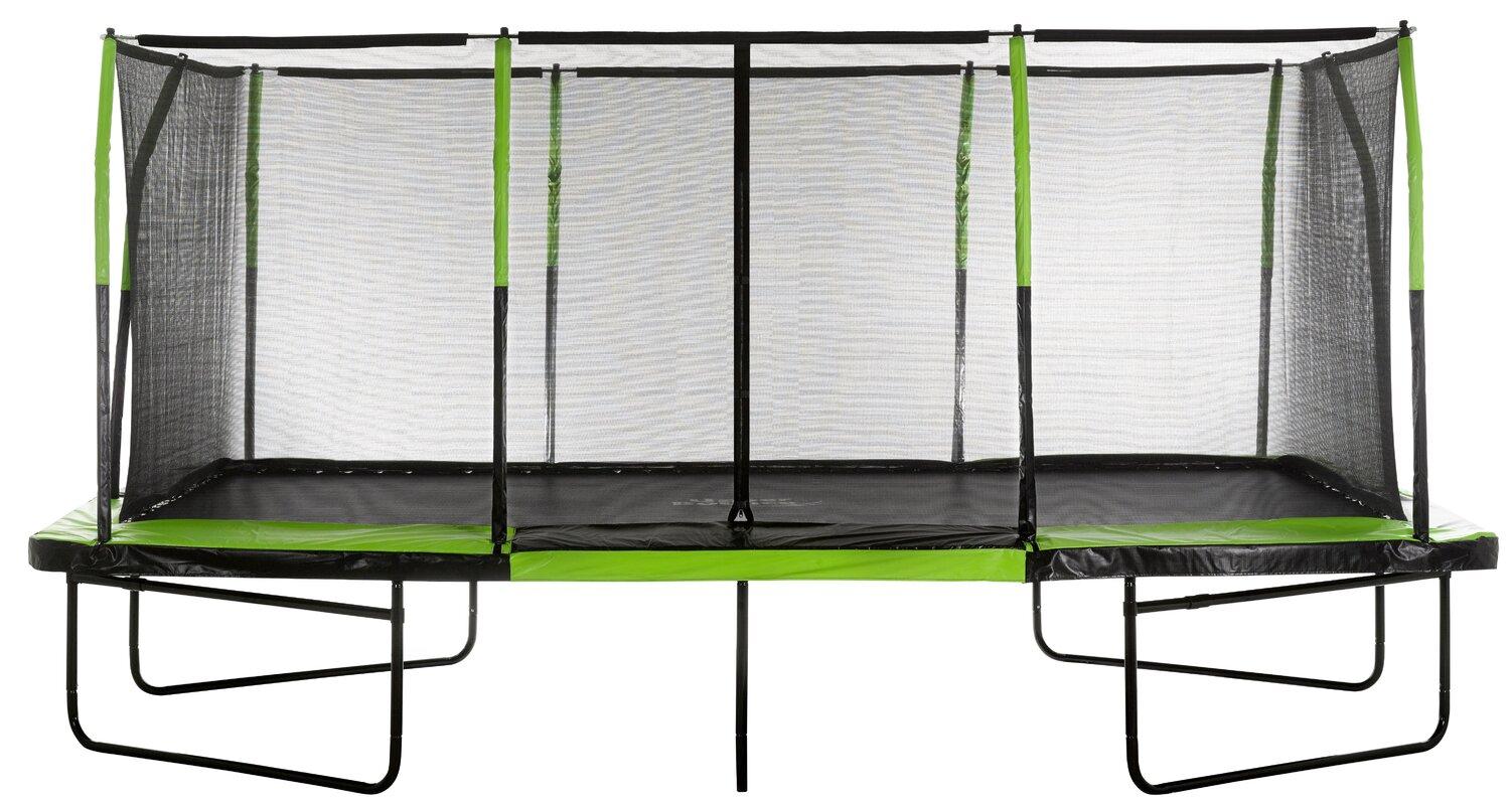 upper bounce mega 10 u0027 x 17 u0027 trampoline with safety enclosure