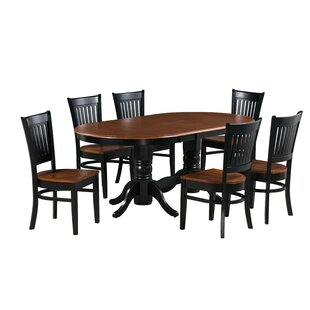 Schacht Traditional 7 Piece Extendable Solid Wood Dining Set