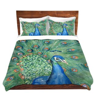 DiaNoche Designs Splendor Peacock Duvet Cover Set