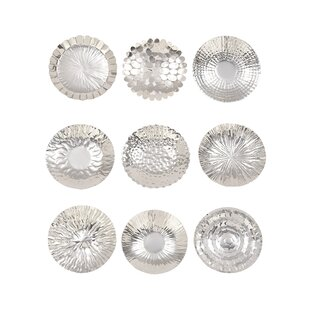 9 Piece Stainless Steel Decorative Plate Set  sc 1 st  Wayfair & Decorative Plates Youu0027ll Love | Wayfair