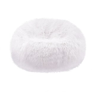 Plush Faux Fur Teardrop Slacker Bean Bag Chair