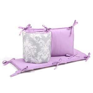 Damask Reversible Crib Bumper