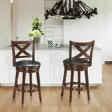 Woosley Swivel Bar & Counter Stool (Set of 2) by Red Barrel Studio®