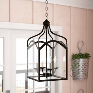 Gracie Oaks Liberty Hill 4-Light Lantern Pendant