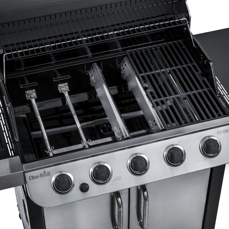 Charbroil Performance 5 Burner Propane Gas Grill With Cabinet