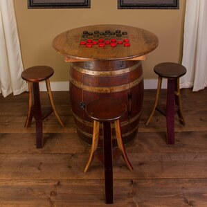 Whiskey Barrel 5 Piece Pub Table Set by Napa East Collection